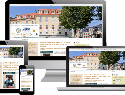 Webdesign und Online Marketing – Hotel Goldner Stern