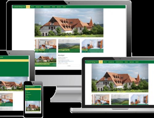 Webdesign und Werbung – Hotelwebseite Landhotel Thüringer Hof
