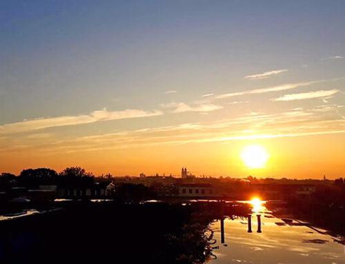 Magdeburg am Morgen – Sonnenaufgang im Zeitraffer