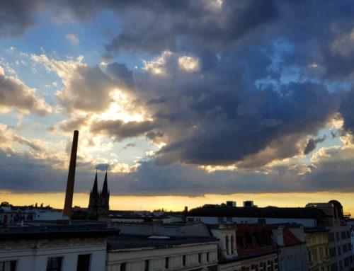 Sonnenuntergang über Magdeburg Sudenburg im Zeitraffer